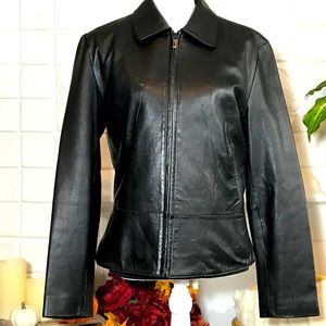 Wilson's Leather Black Leather Coat